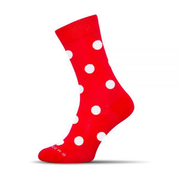 Ponožky Shox Bodkáč červený - veľkosť 39-42