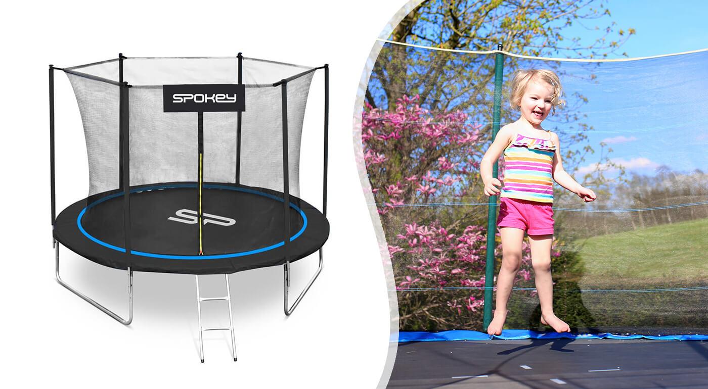 Trampolína Spokey Jumper s priemerom 244 alebo 305 cm pre celú rodinu