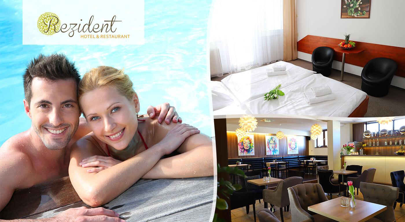 Hotel Rezident*** Turčianske Teplice: Relaxačný pobyt Klasik alebo Gold s procedúrami, vstupom do aquaparku a polpenziou