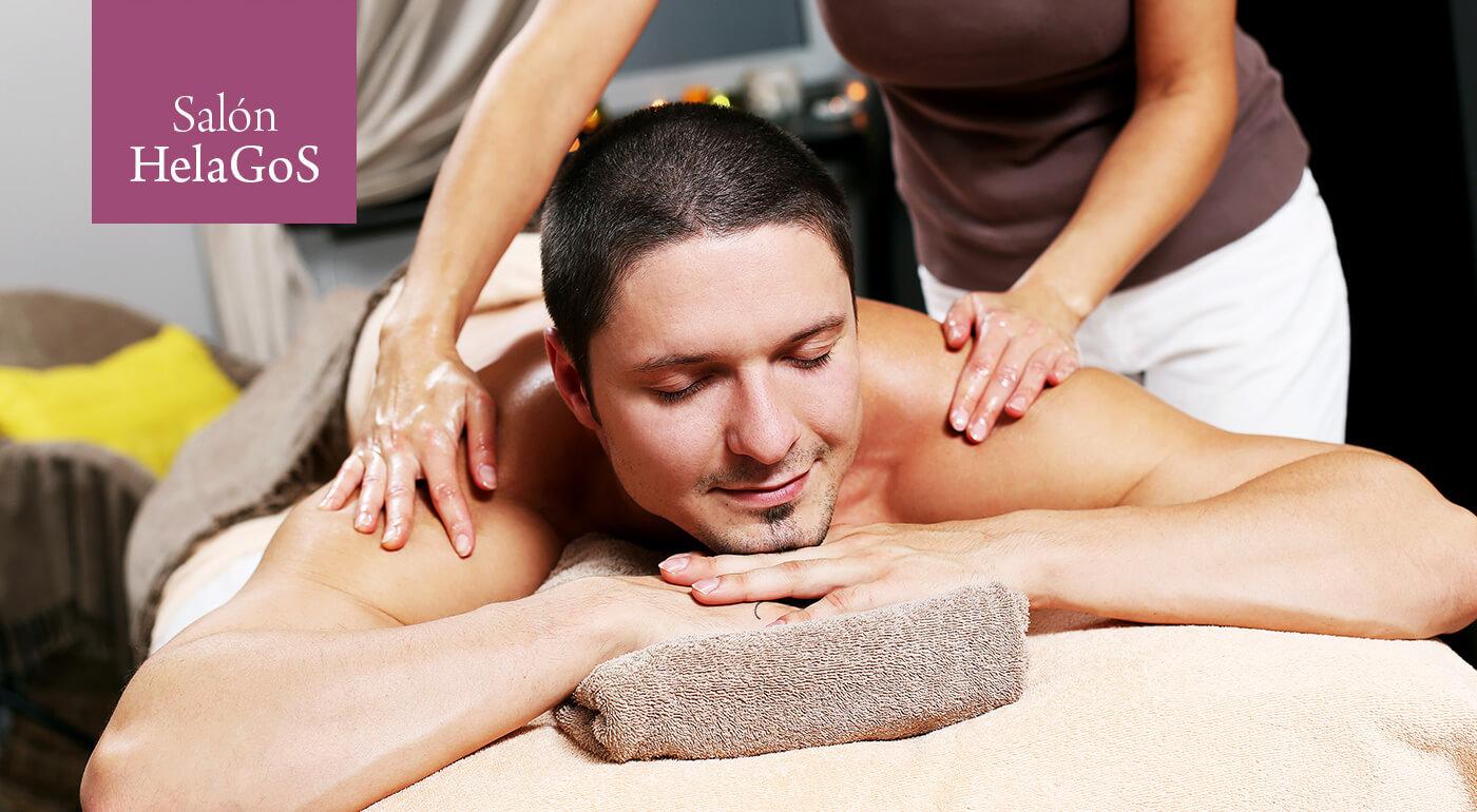 Masáž chrbta s rašelinovým zábalom alebo tepelnou terapiou v salóne HelaGoS v Starom meste