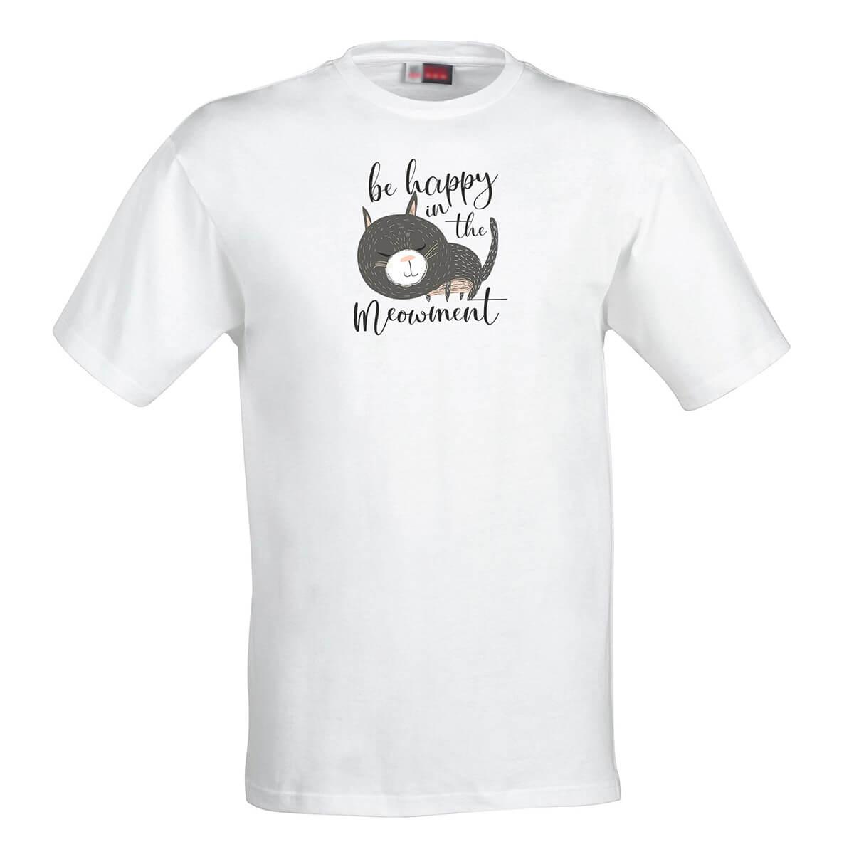 Pánske tričkoBe happy in the meowment - veľkosť S