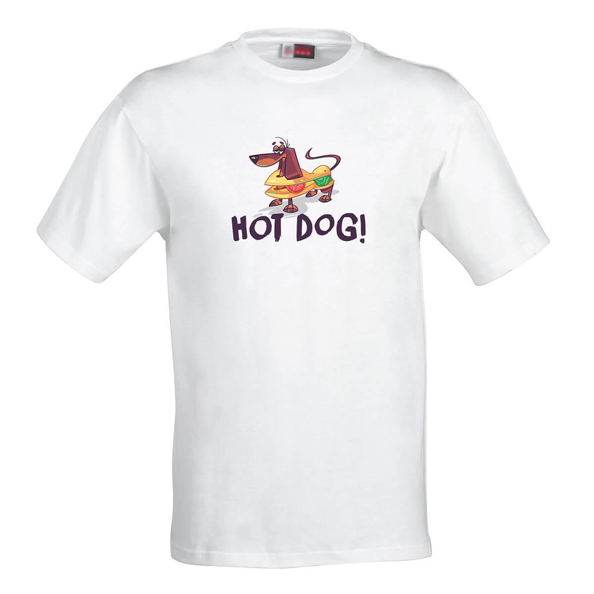 Dámske tričko Hot Dog - veľkosť M