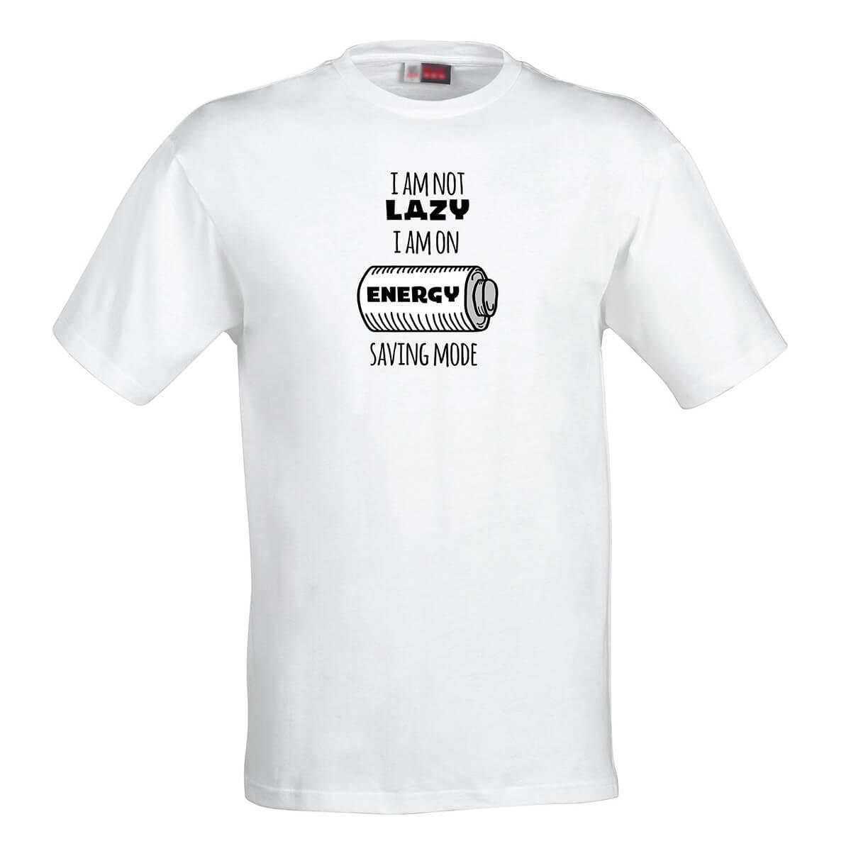 Pánske tričko I am not lazy. I am on energy saving mode - veľkosť S