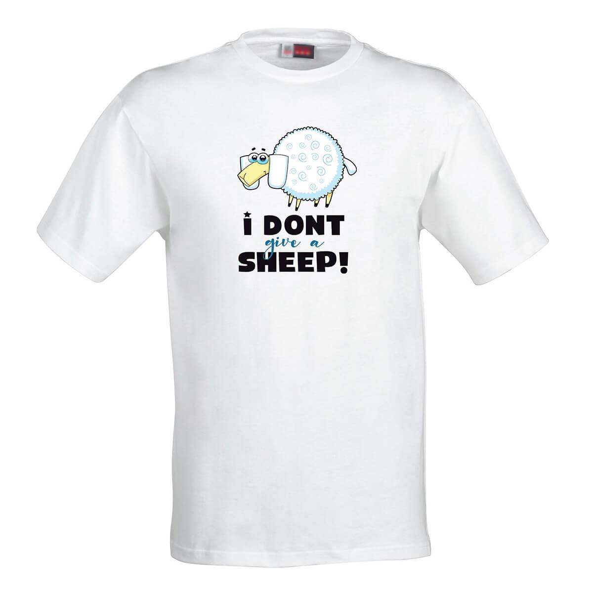 Pánske tričko I don't give a sheep! - veľkosť S
