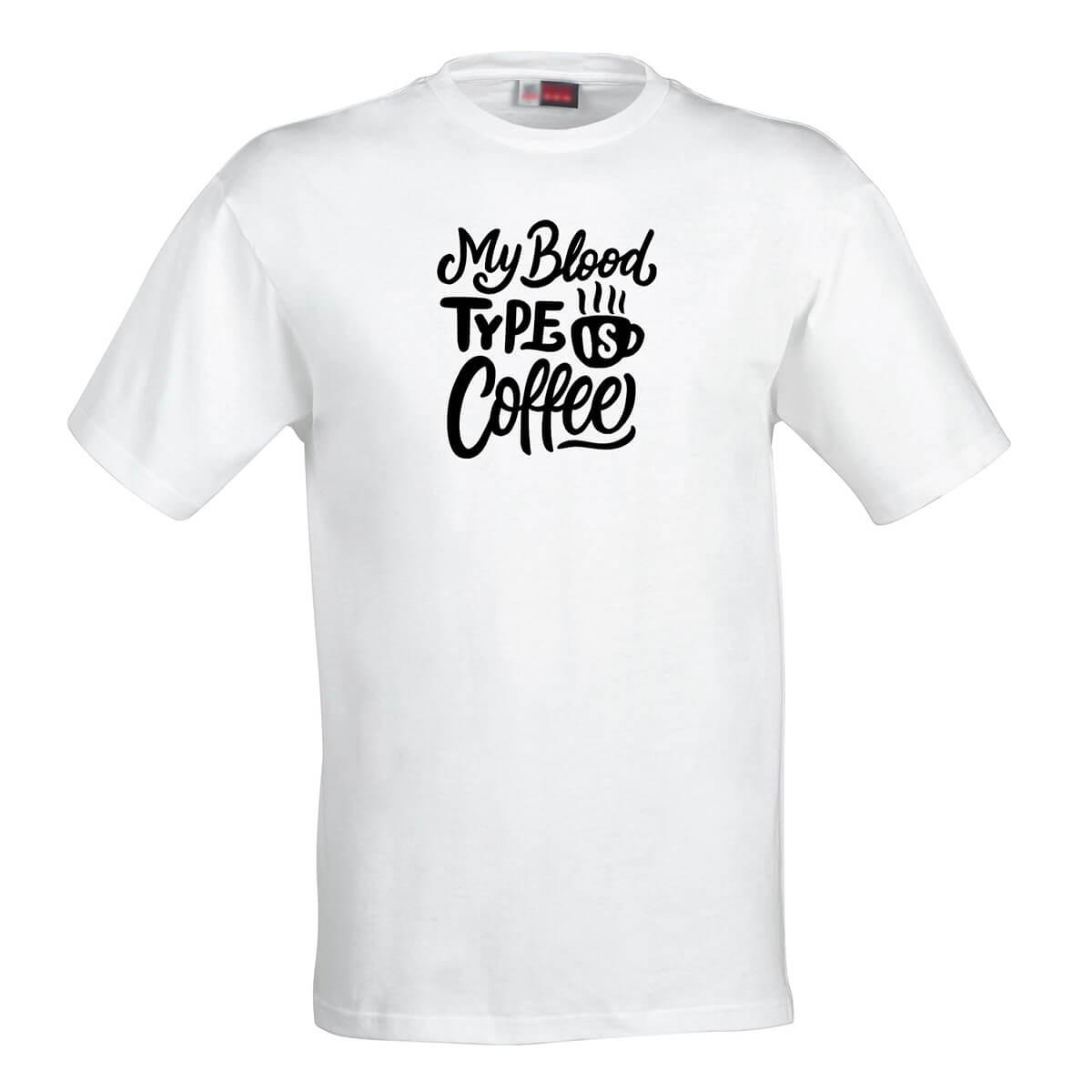 Pánske tričko My blood type is coffee - veľkosť S