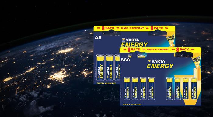 Alkalické baterky Varta Energy 8 kusov