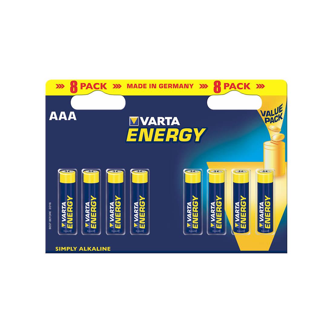 Baterky Varta Energy AAA alkalické 8 kusov
