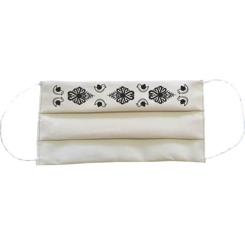 Bavlnené rúško obdĺžnikové pre dospelého - biele