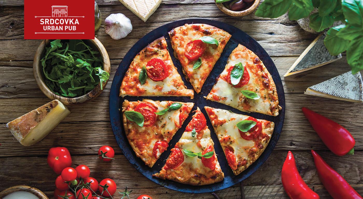 Akcia 2+1 pizza GRÁTIS s donáškou zadarmo! Zostaňte doma s chrumkavou pizzou zo Srdcovka Urban Pubu!