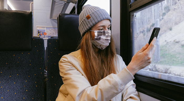 Bavlnené rúška s plieškom na nose