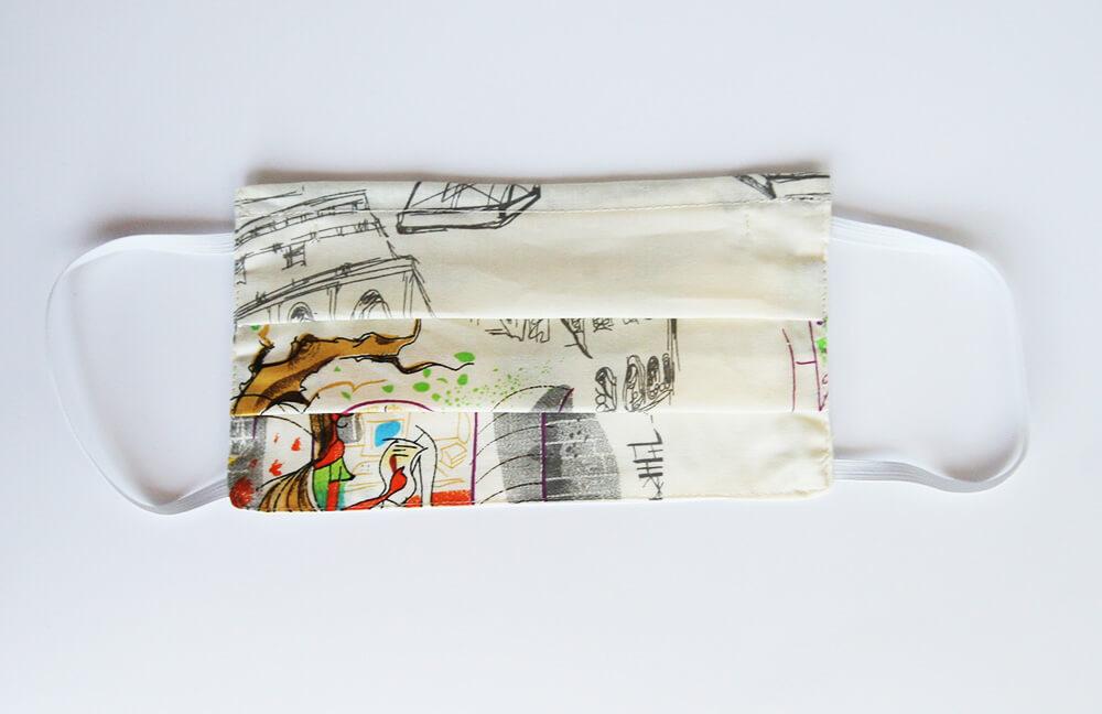 Bavlnené rúško pre dospelého - vzor Art