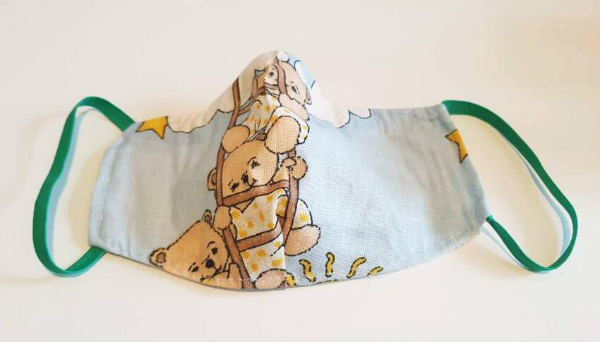 Bavlnené rúško pre dieťa - macko