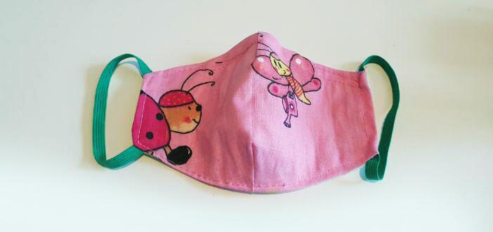 Bavlnené rúško pre dieťa - motýľ