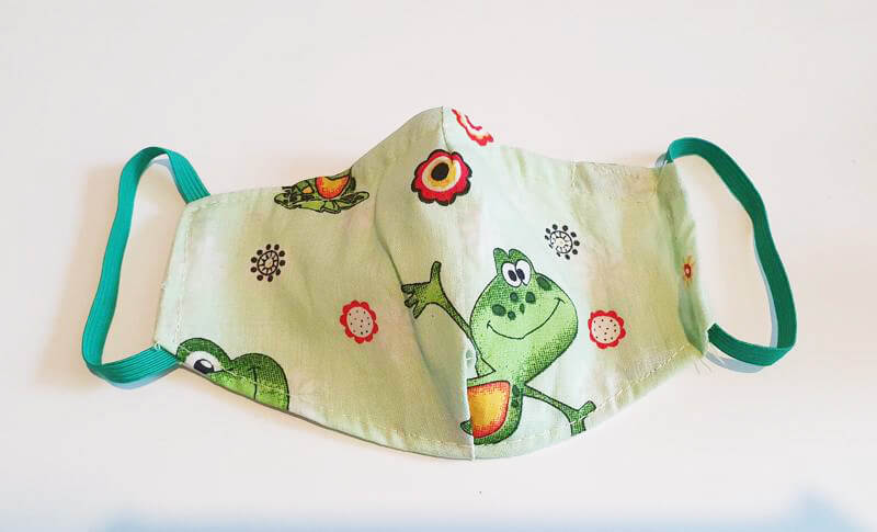 Bavlnené rúško pre dieťa - žabka