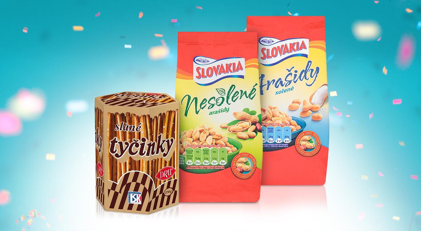 Oriešky Slovakia alebo obľúbené tyčinky DRU - slaný snack (nielen) na večer k telke