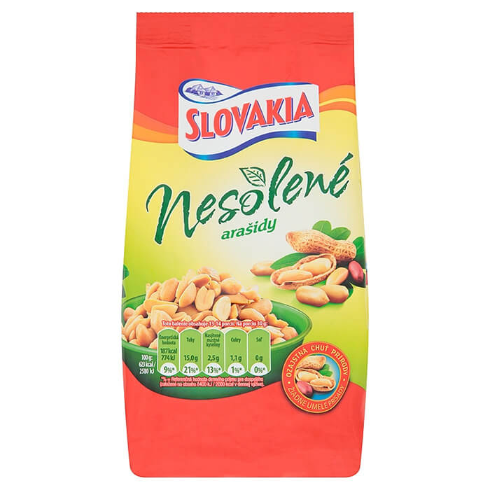 Slovakia Arašidy nesolené 400 g