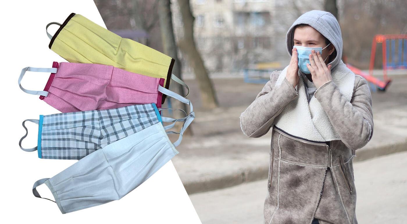 Rúška zo 100% bavlny vyrobené na Slovensku