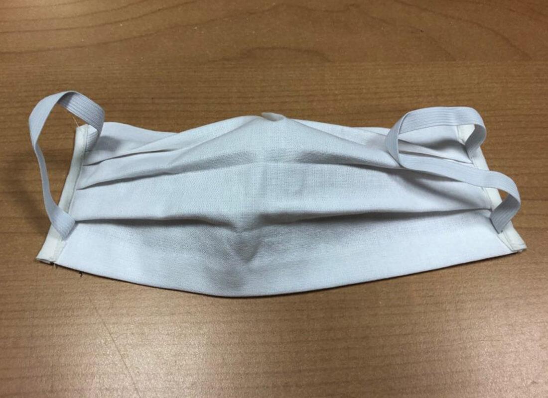 Bavlnené rúško - obdĺžnik biely
