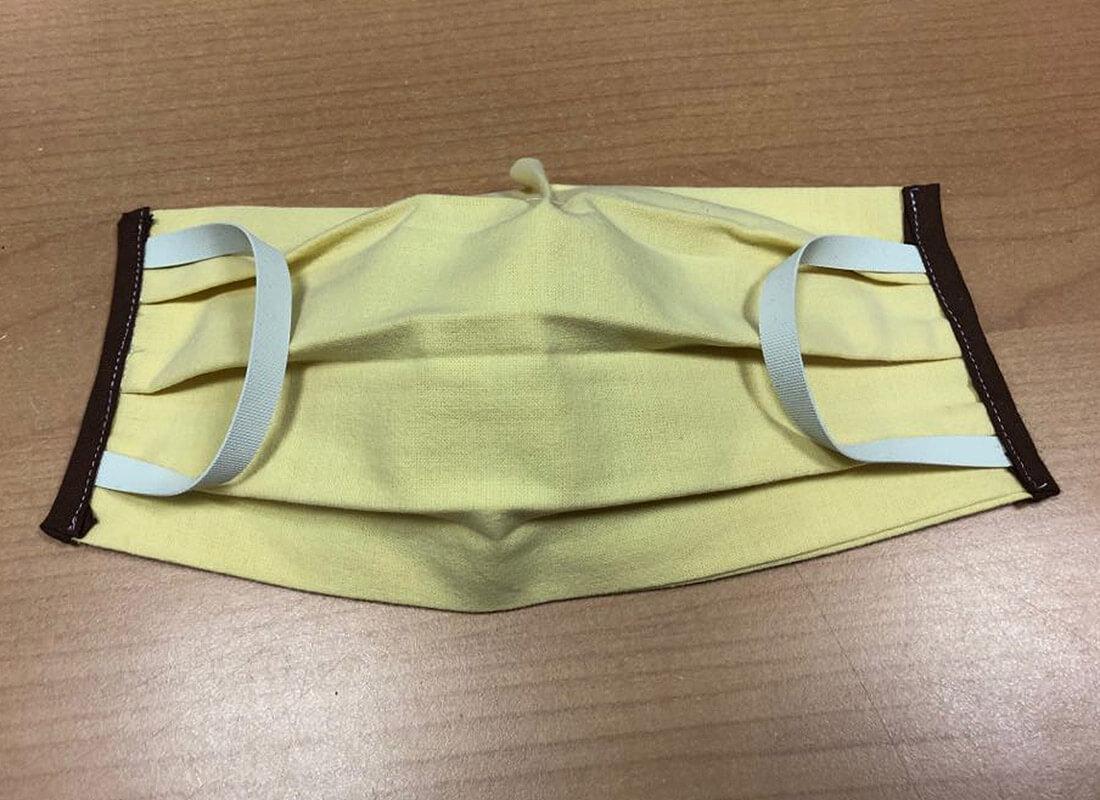 Bavlnené rúško - obdĺžnik žltý