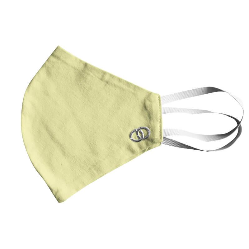 Bavlnené rúško - maska žltá