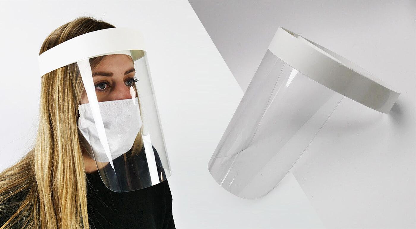 Ochranný štít z polypropylénu na opakované použitie