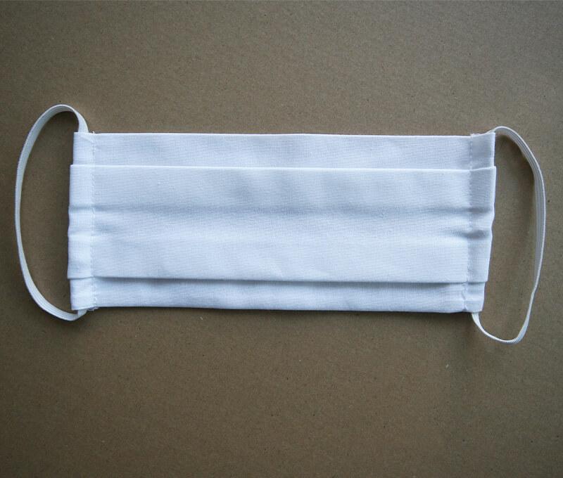 Bavlnené rúško- biely obdĺžnik
