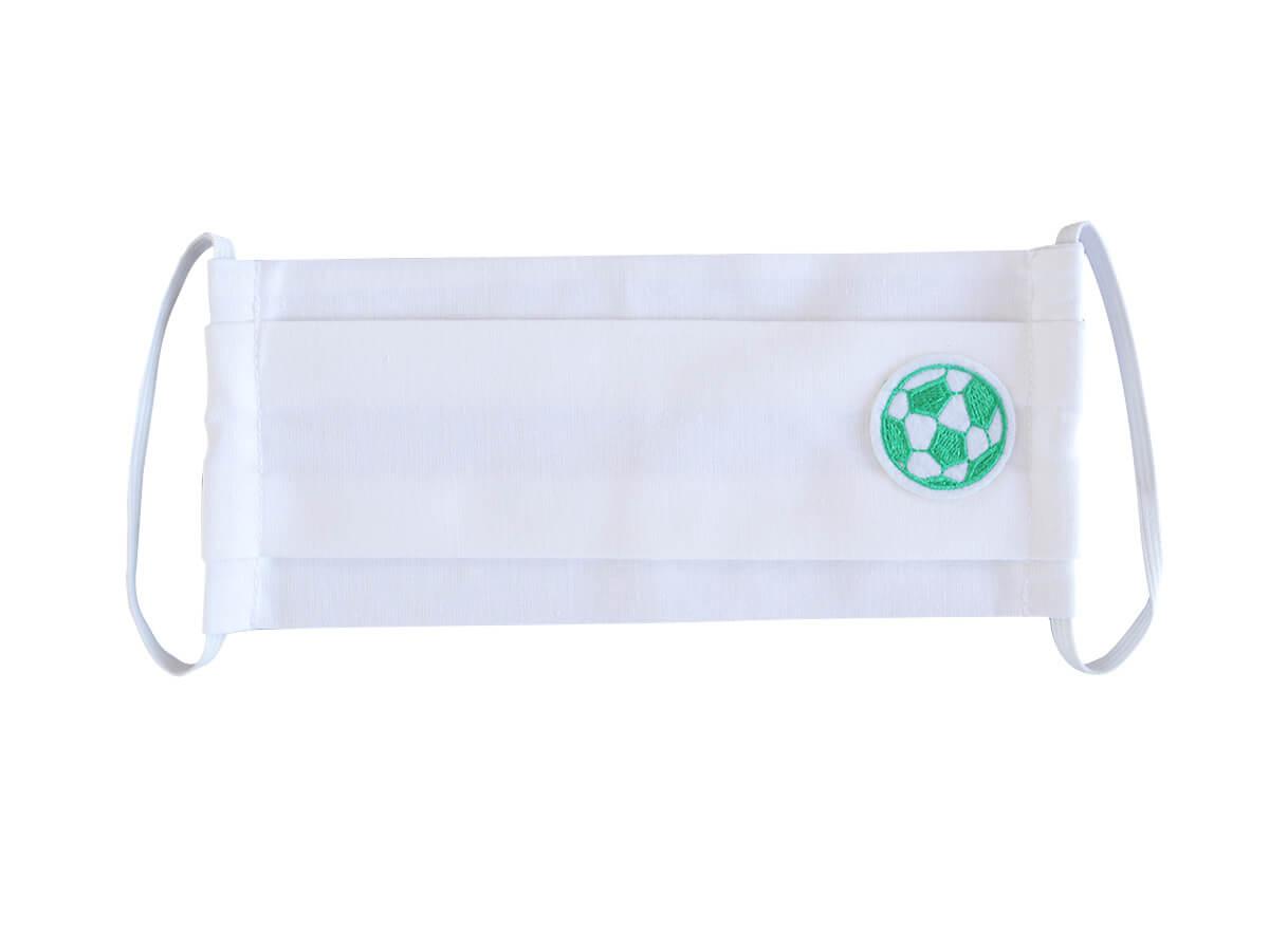 Bavlnené rúško- biely obdĺžnik s nažehlovačkou - Futbal