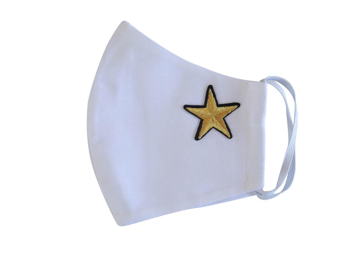 Bavlnené rúško- biela maska s nažehlovačkou - Hviezda