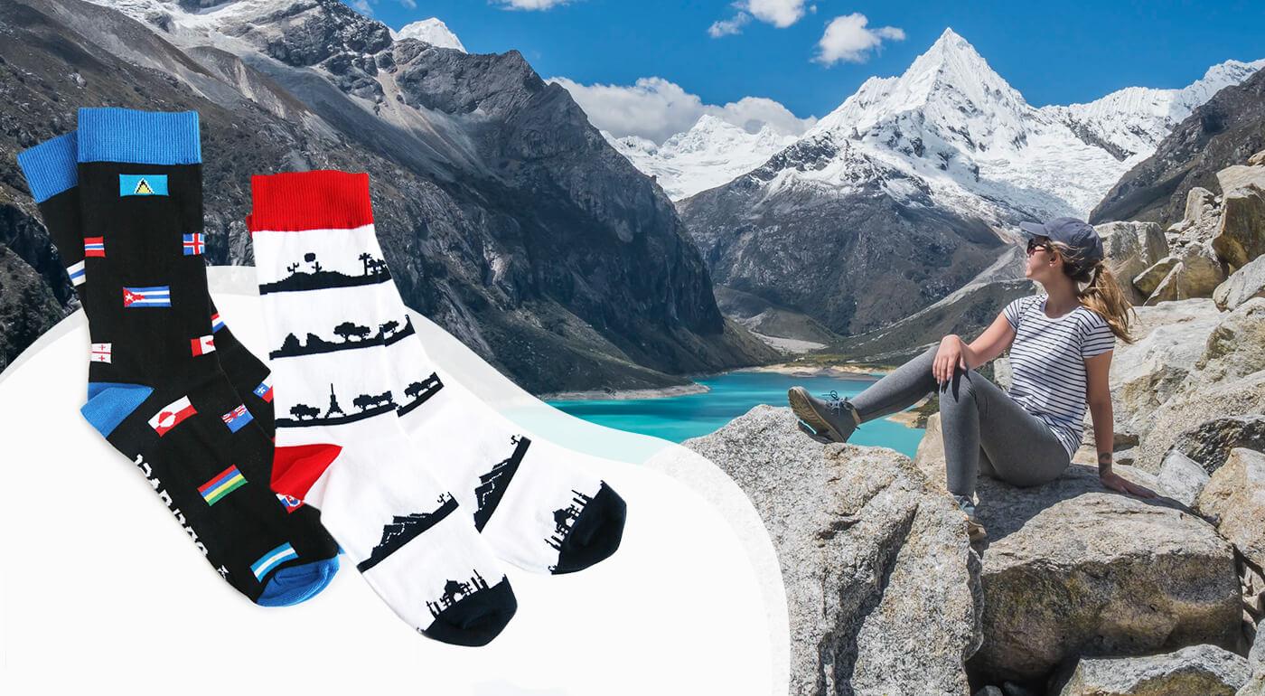 Cestovateľské ponožky - špeciálna ponožková edícia