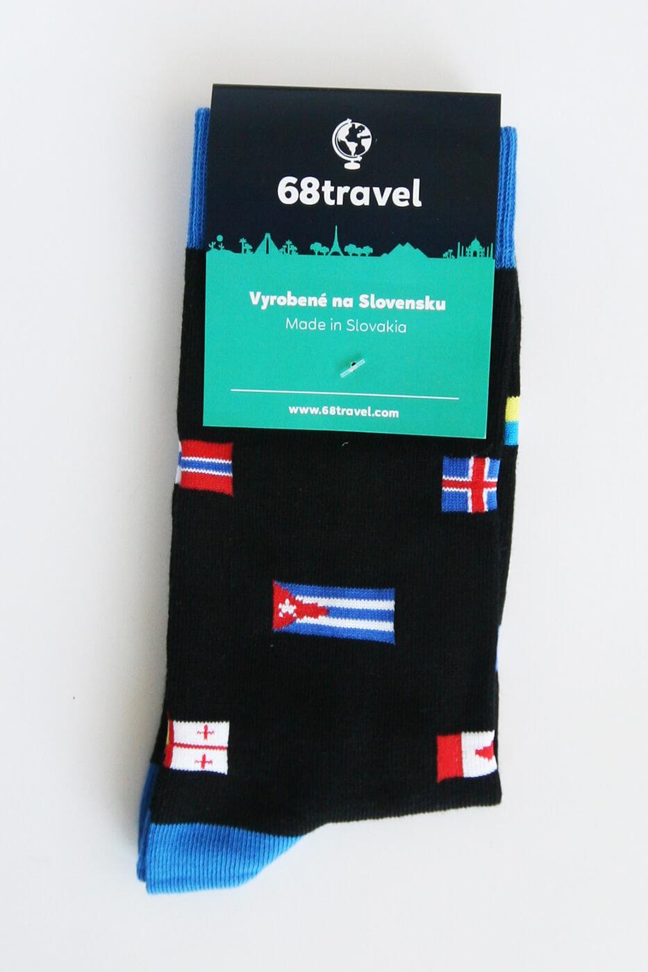 Ponožky Vlajky - veľkosť 35-38