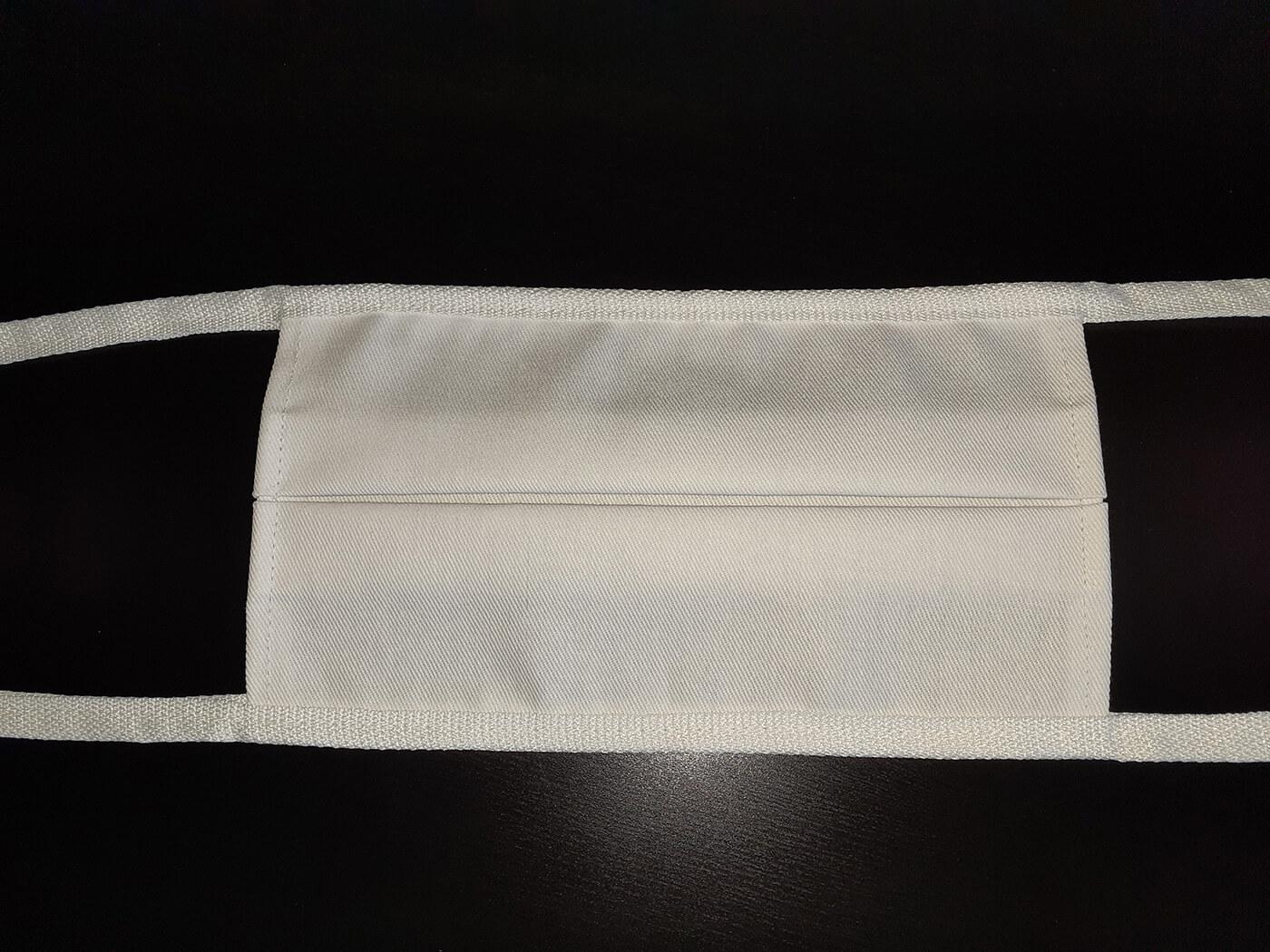 Rúško zo zdravotníckej bavlny - biely obdĺžnik