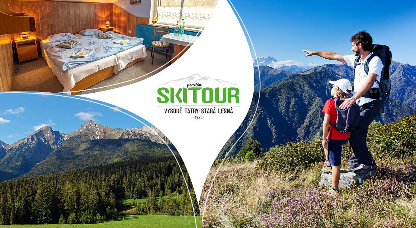 Vysoké Tatry: 4 dni v jesenných Tatrách v Penzióne Skitour s celodenným vstupom do Aquacity Poprad