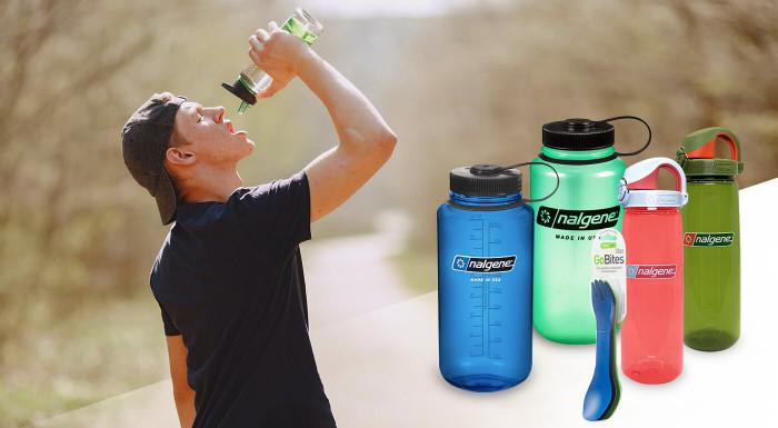 Turistické fľaše Nalgene a príbory HumanGear