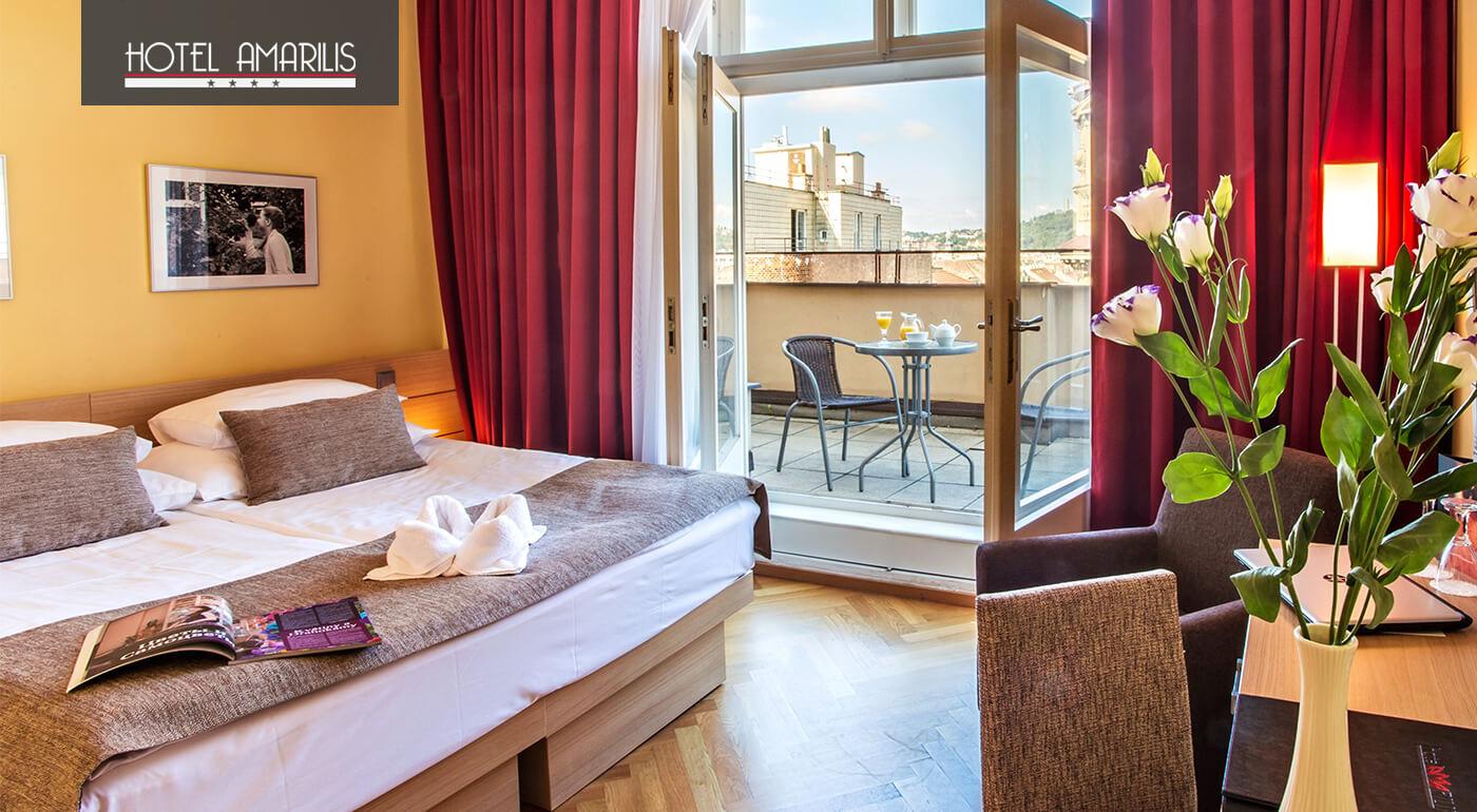 Praha: Romantický pobyt pre dvoch v Hoteli Amarilis**** s privátnym wellness alebo degustačným menu