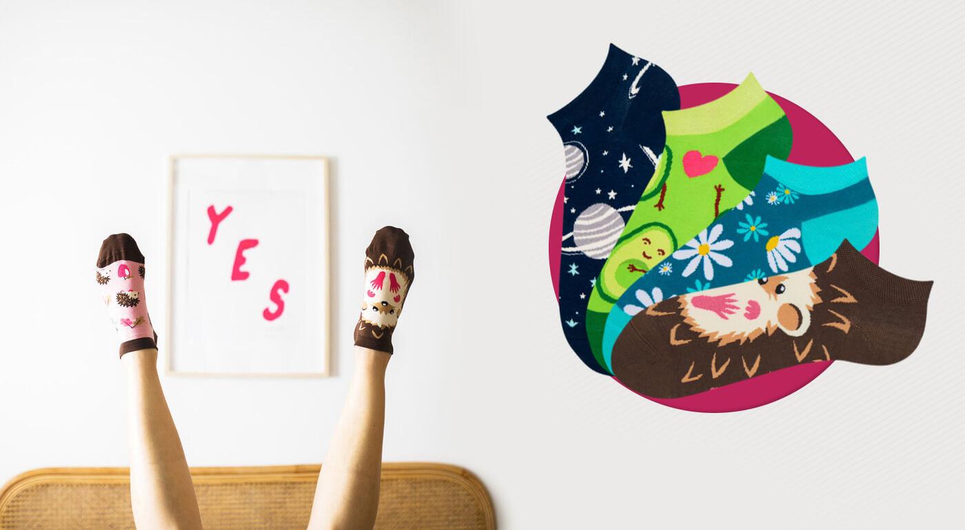 Veselé členkové ponožky Dedoles alebo výhodné EKO trojbalenie ponožiek z recyklovanej bavlny