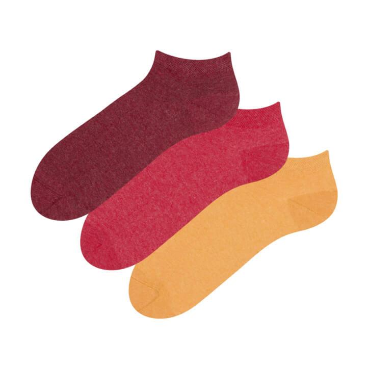Good Mood Trojbalenie členkových ponožiek z recyklovanej bavlny Extrovert - veľkosť 35-38