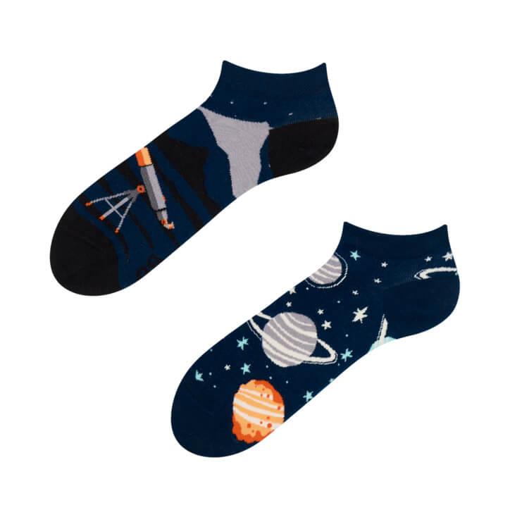 Veselé členkové ponožky Vesmír - veľkosť 35-38
