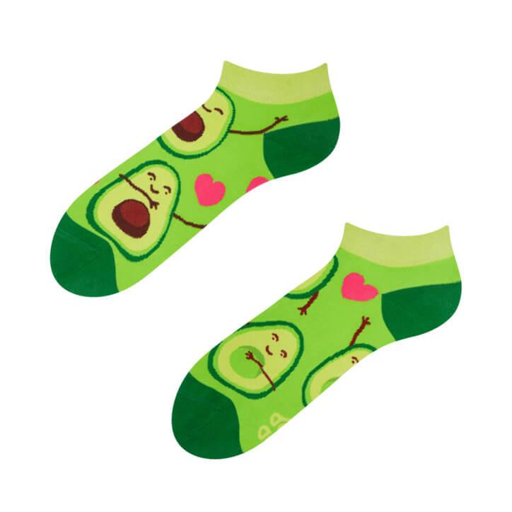 Good Mood členkové ponožky Avokádová láska - veľkosť 35-38