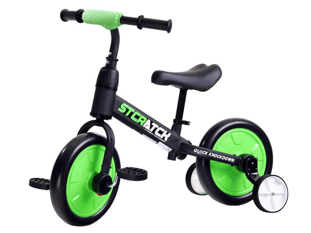 Detské odrážadlo Stratch 3v1 zelené