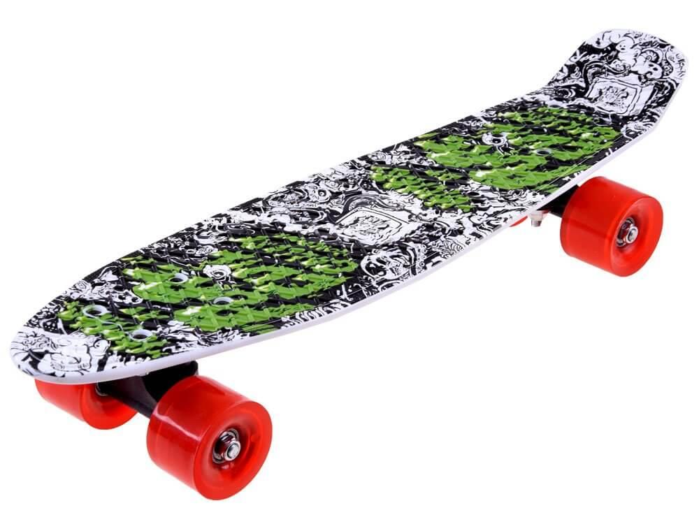 Detský pennyboard 55 cm - červené kolieska
