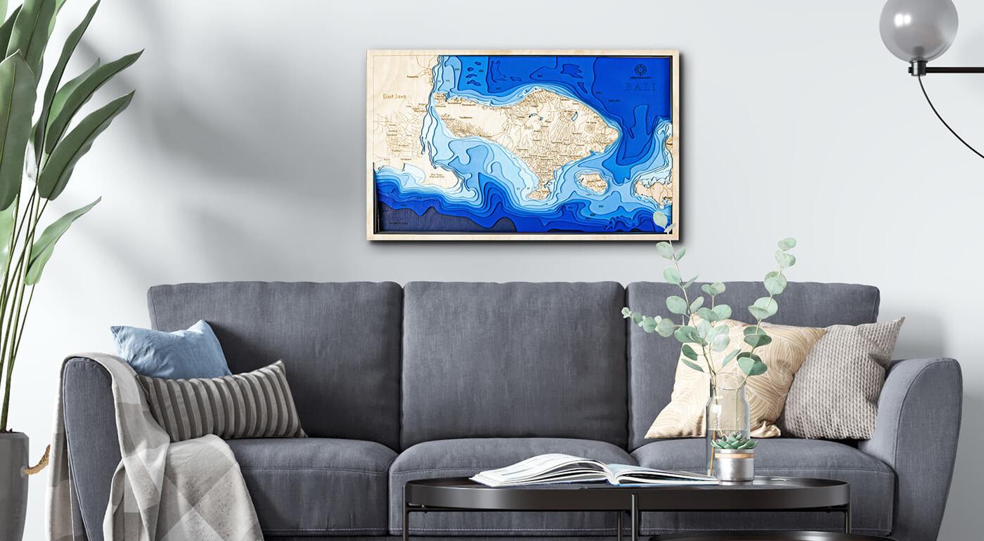 Drevené mapy prímorských krajín s 3D vrstvami - dokonalý darček pre milovníkov cestovania