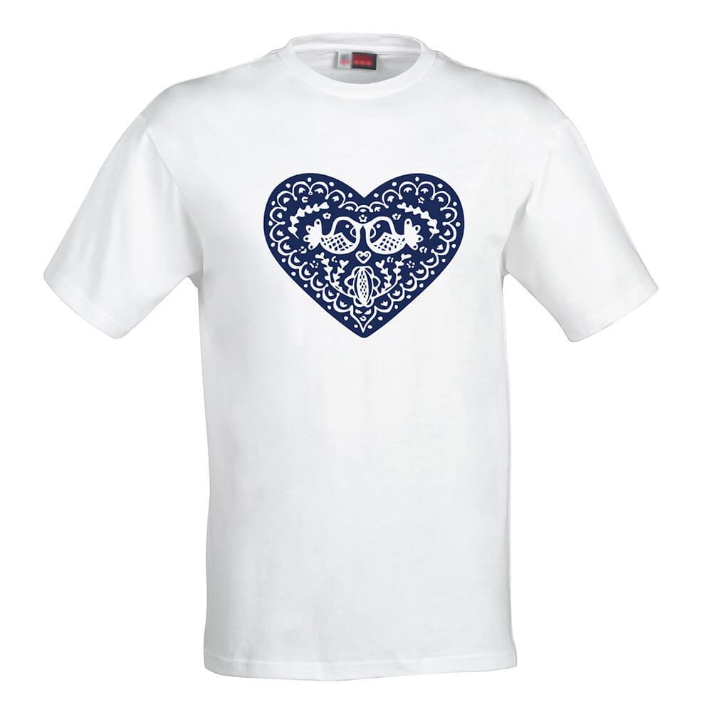 Dámske tričko Modré srdce - veľkosť S