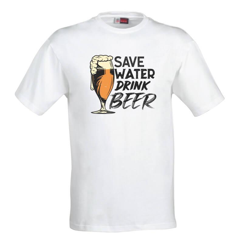 Pánske tričko Šetri vodu, pi pivo - veľkosť XL