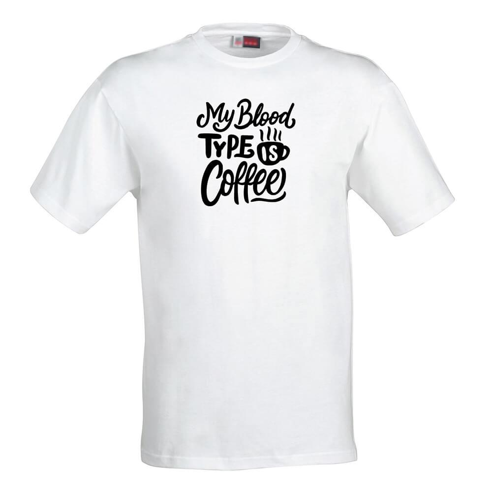 Pánske tričko Moja krvná skupina je káva - veľkosť S