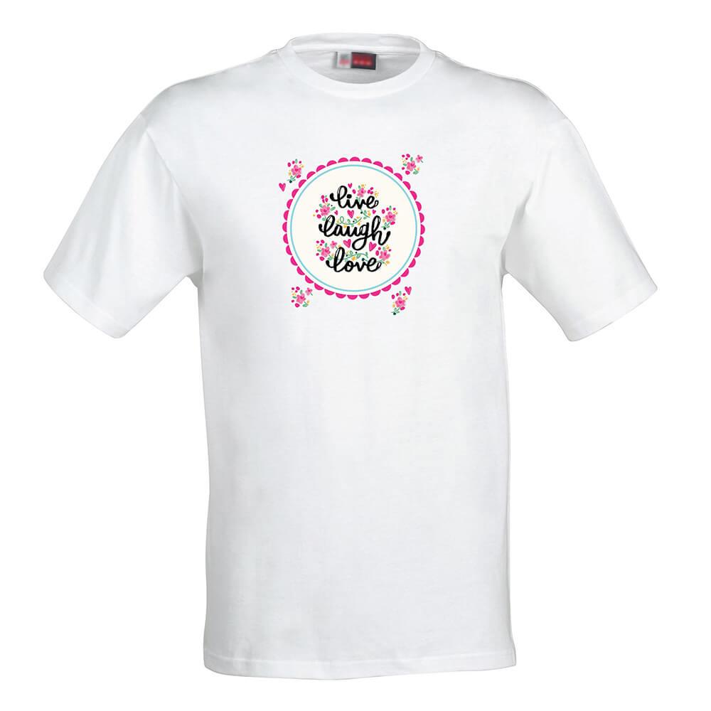 Dámske tričko Ži, usmievaj sa, miluj - veľkosť S