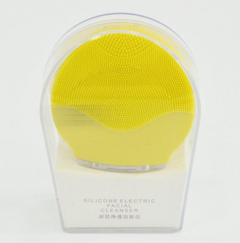 Kefka na čistenie pleti Pulse žltá