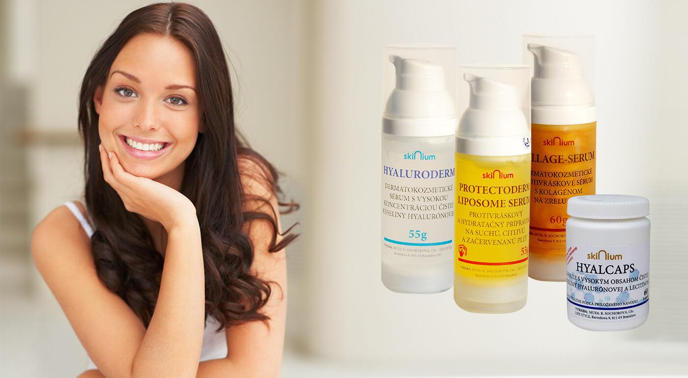 Dermatokozmetika Skinium vyrobená na Slovensku - dokonalá hydratácia, výživa i omladenie pre vašu pleť