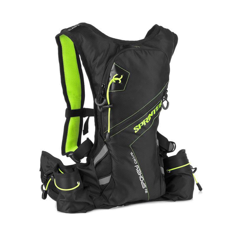 Spokey Sprinter športový batoh 5 l zeleno-čierny