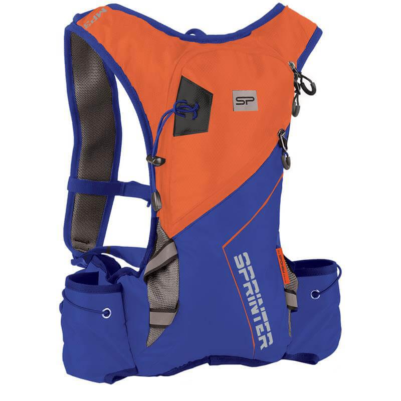 Spokey Sprinter športový batoh 5 l oranžovo-modrý