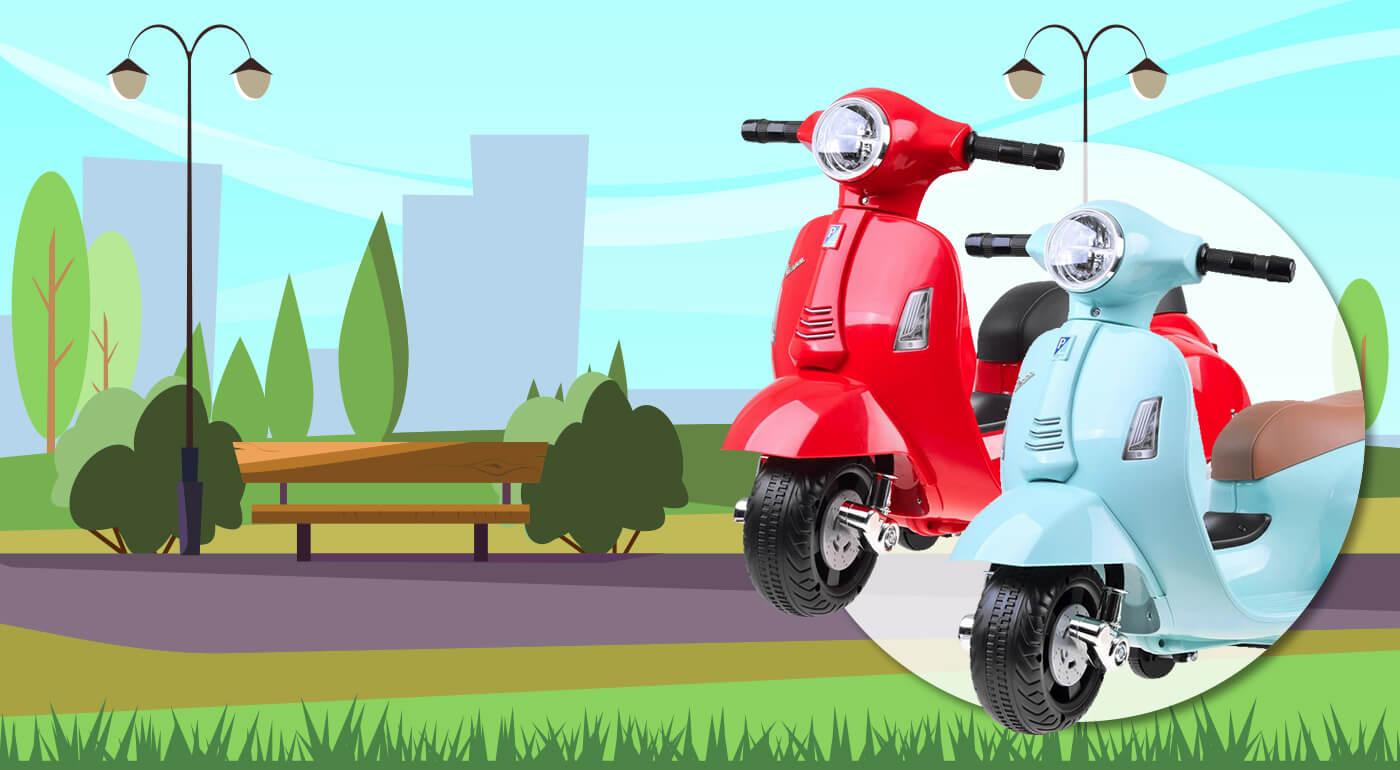 Elektrická motorka pre deti VESPA vhodná od 18 mesiacov